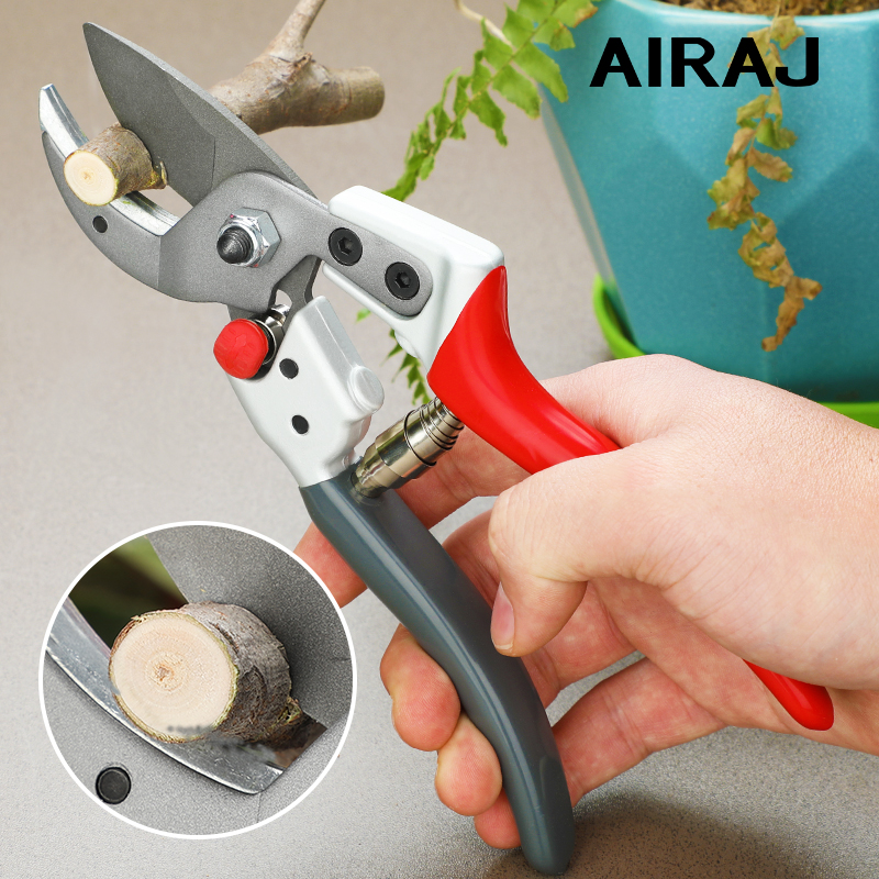 AIRAJ Strength Pruning Shears Household Farm High Quality Garden Shears Can Cut 30mm Branches, Fruit Trees, Flowers, PVC Pipes