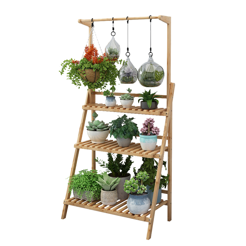 Balcony Type Flower Airs Household Multi-storey Ground Flowerpot Interior Decoration Living Room Storage Admission