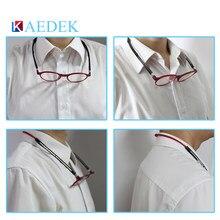 Kaedek unissex ajustável pendurado pescoço eyewear ímã dobrável frente óculos de leitura mulher homem design diopter leitor óculos