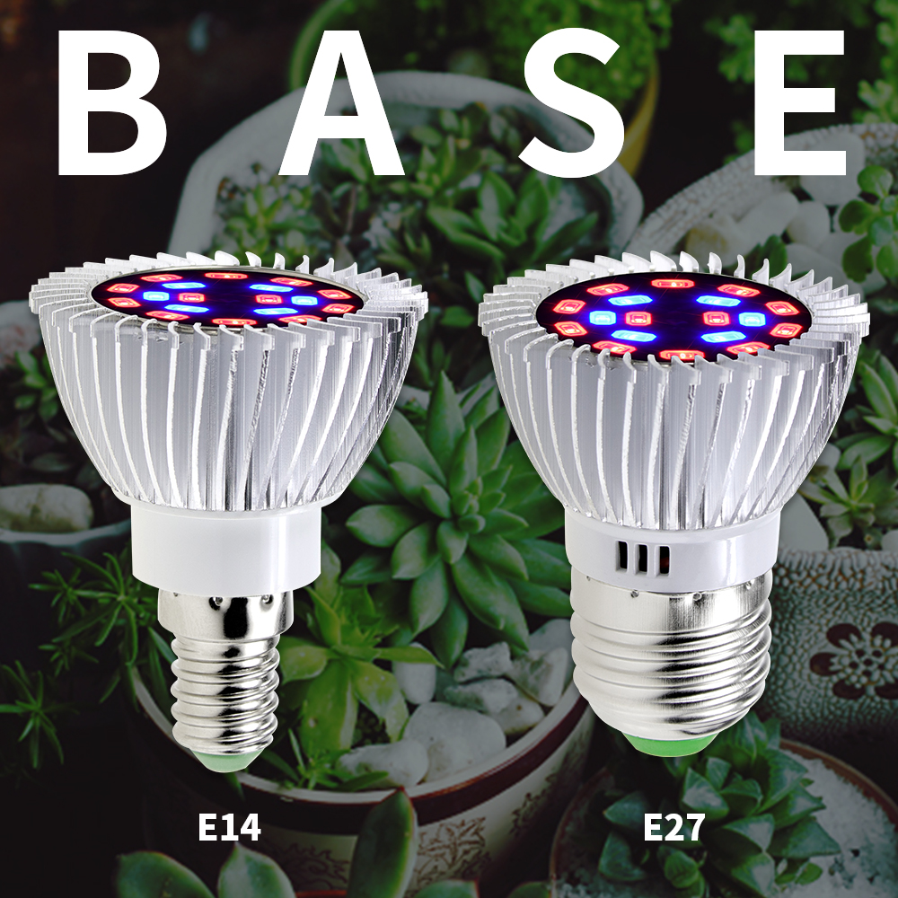 Grow LED Full Spectrum Invernadero Para Casa LED Plant Lamp18W 28W LED Plant Growth Lamp Flowers Seedling Cultivation Growbox