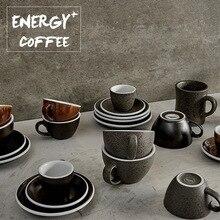 Гранитная цветная кофейная чашка для латте кофейная чашка бутик Одиночная кофейная чашка высокое качество профессиональная кофейная чашка