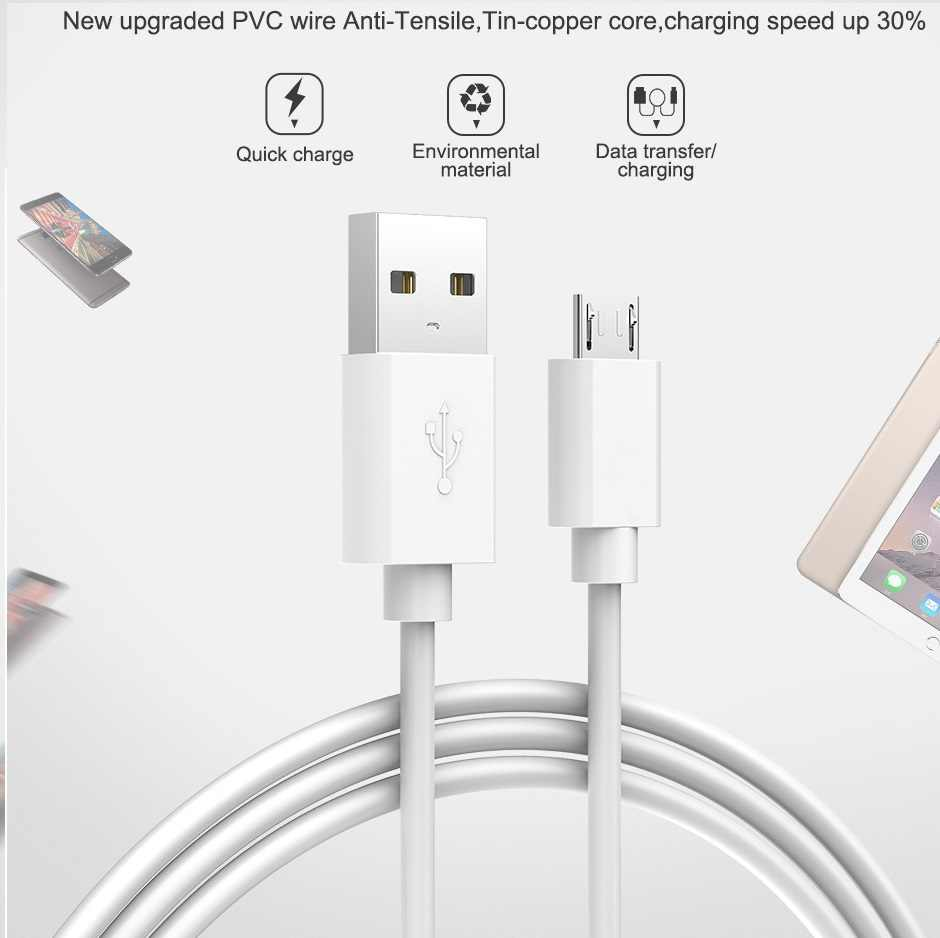 المصغّر usb كابل 1m طويلة USB للهاتف المحمول سريع كابل الشاحن لسامسونج غالاكسي A6 A7 J7 2018 A5 2016 J5 2017
