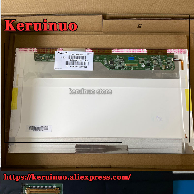 15.6Laptop Screen LTN156AT05 fit N156B3-L02 LTN156AT16/24/27/32 FOR <font><b>LENOVO</b></font> T510 L540 T540P Y580 E540 E531 Z560 G510 <font><b>V580</b></font> Z580 image
