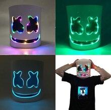 DIY LED DJ Marshmallow Mask /Wire Marshmallow Helmets / Cosplay Prop Halloween Party Bar Masks /Full Face Halloween Mask цены