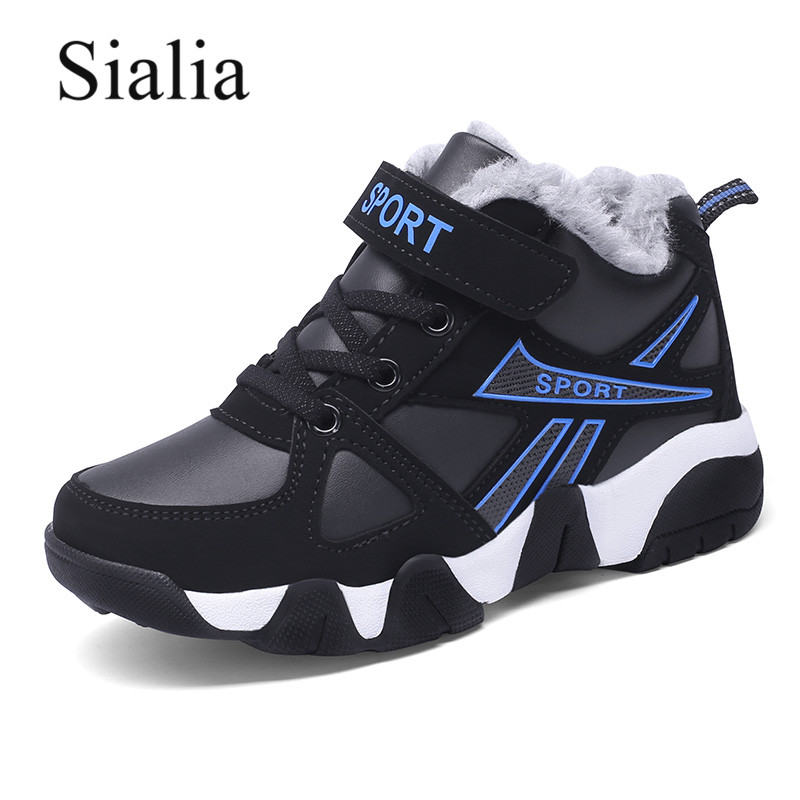 Sialia Winter Children Sneakers For Kids Casual Shoes Boys Sneakers Girls Shoes Running Sport Outdoor Warm Plush