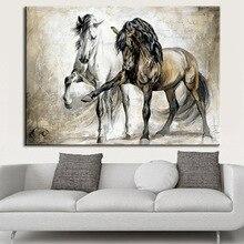 Póster Vintage Impresión de lienzo Morden arte de pared lienzo pintura pósters e impresiones caballo cuadros de pared para la decoración del hogar de la sala de estar