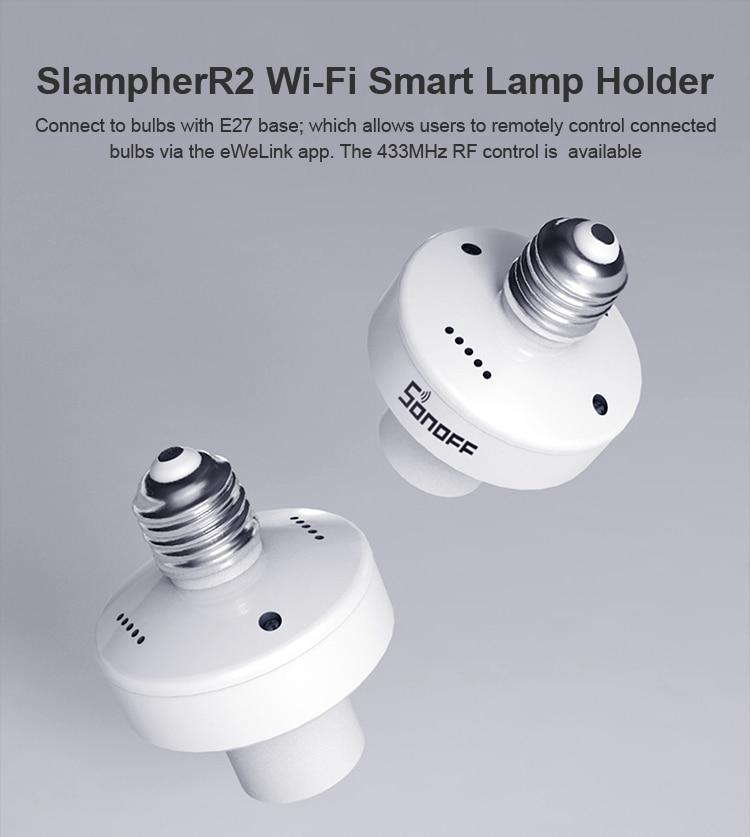 Douille connectée Sonoff Slampher R2 Compatible avec Amazon Alexa et Google