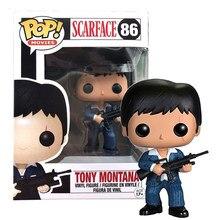 Funko pop-Scarface Tony Montana de vinilo para niños, colección de figuras de acción, regalos de cumpleaños con caja