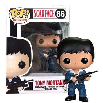 Funko pop Scarface Tony Montana Vinyl toys Action Figures Collection Model dolls children birthday gifts with box funko pop back to the future 2 marty mcfly dr emmett brown vinyl dolls action figure collectible model toys for child with box