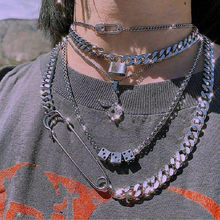 YPAY 2021 indie harajuku Fun Dice Pendant Necklace goth e girl chain choker grunge aesthetic Accessories Jewelry