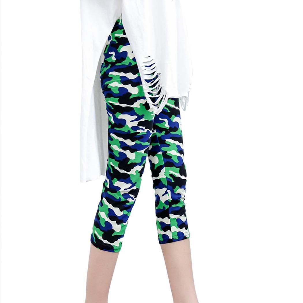 New Fashion Women Camouflage Slim Stretch All Seasons Casual Pants Trousers Calf Length Leggings
