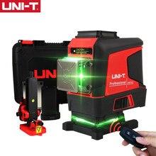 UNI-T 12/16 linhas de auto-nivelamento laser nível 3d verde 360 horizontal vertical cruz interior ao ar livre controle remoto tester lm575ld