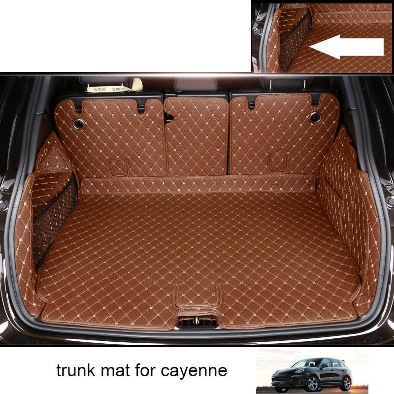 Lsrtw2017 Leather Car Cargo Liner For Porsche Cayenne 2011-2018 2017 2016 2015 Interior Accessories 958 Trunk Mat Cover Carpet