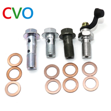 M10*1.25 Brake Master Cylinder Oil Hose Screw Banjo Bolt Motorcycle Universal Tube Tubing Screws Bolts M10*22*1.25 M10*32*1.25
