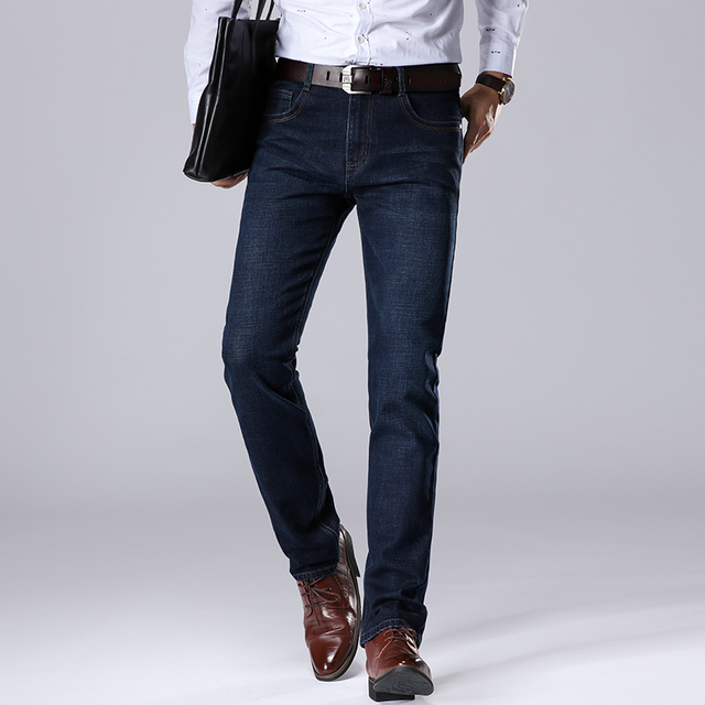 Men's straight, stretch, slim, jeans.