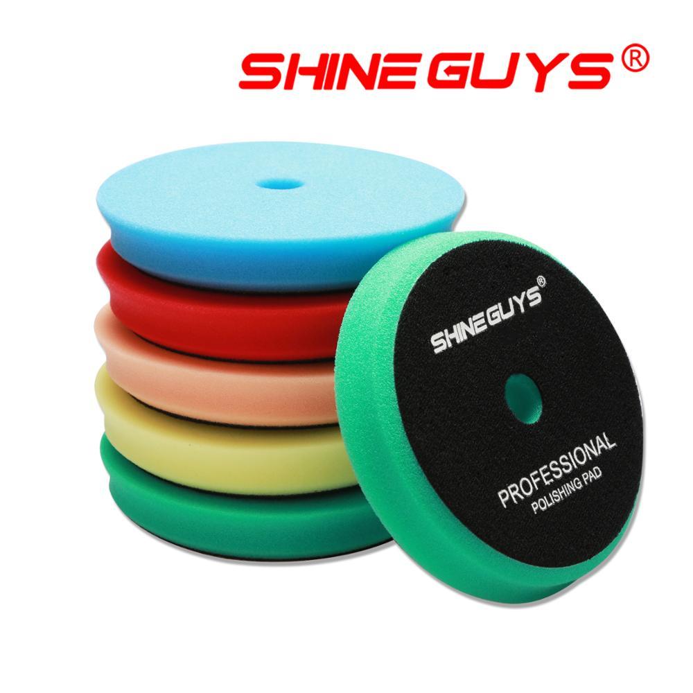 (Vendas a granel 1) brilho caras 6 Polegada (150mm) luz/médio/corte pesado almofadas de polimento & almofadas de polimento para 5