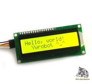 5 개/몫 (노란색 및 녹색 화면) IIC/I2C 1602 LCD 모듈 노란색 및 녹색 라이브러리 문서 제공