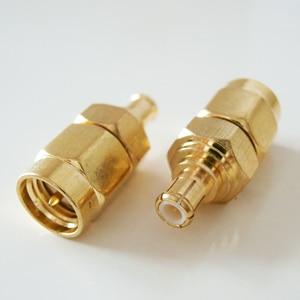 1x pces mcx macho para sma macho plug mcx para sma 50ohm rf conector adaptadores soquete banhado a ouro coaxial reto
