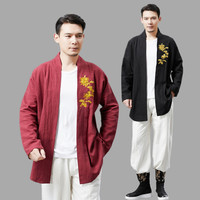 Chinese Style embroidered blouse Blouse Tang Suit top Traditional Chinese Jacket Men Garments long sleeve Costume