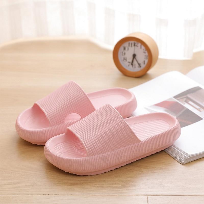 Slippers Women Fashion Summer Non-slip Sandals Shoes Beach Slides High Heels Shower Slipper Soft Sole Women Men Ladies Bathroom 5