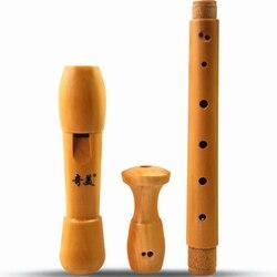 Gravador de madeira barroco e alemão flauta clarinete alto 8 buracos flauta gaita funda flauta colégio grabadora musical