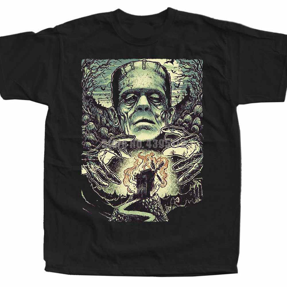 Frankenstein Movie Poster Unisex Ahegao Shirt Carnival Shirt Casual Shirts Clothing T Shirts Father'S Day Wnjjvh image