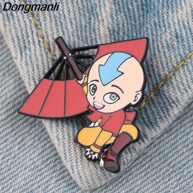 giacca P4341 Dongmanli Anime Avatar The Last Airbender figura dello smalto del metallo perni del risvolto Pin Spille gioielli regalo