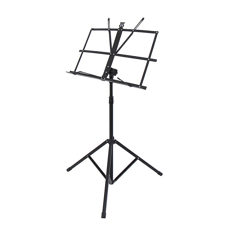 ABUO-Folding Lightweight Music Stand Aluminum Alloy Tripod Stand Holder Height Adjustable With Carrying Bag