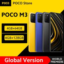 [Światowa premiera w magazynie] globalna wersja POCO M3 Smartphone Snapdragon 662 4GB 64GB 6 53 #8222 wyświetlacz 6000mAh bateria 48MP kamera tanie tanio Nie odpinany CN (pochodzenie) Android Zamontowane z boku Inne Szybkie ładowanie 3 0 Smartfony Pojemnościowy ekran Angielski