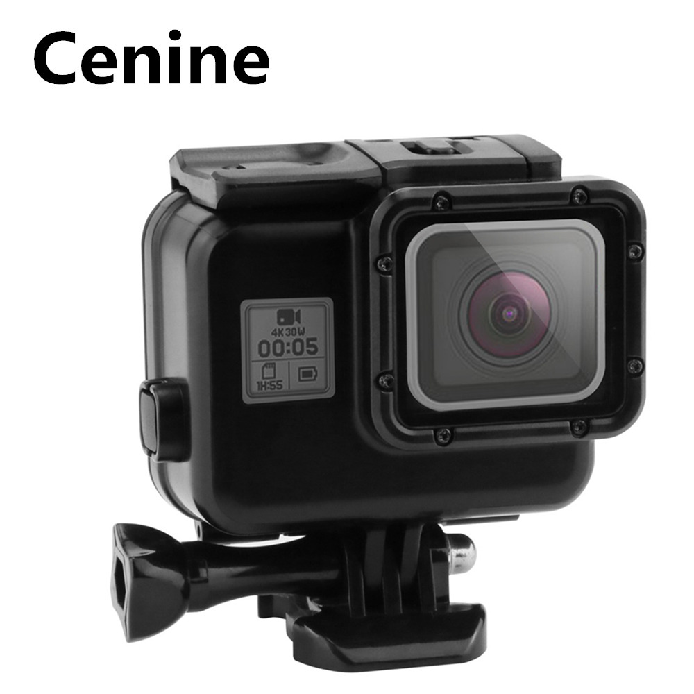 VKeyueDa 2 in 1 for GoPro HERO6 //5 Touch Screen Back Cover Black Need to Disassemble Lens When Installed with Buckle Basic Mount /& Lead Screw VKeyueDa 45m Waterproof Housing Protective Case
