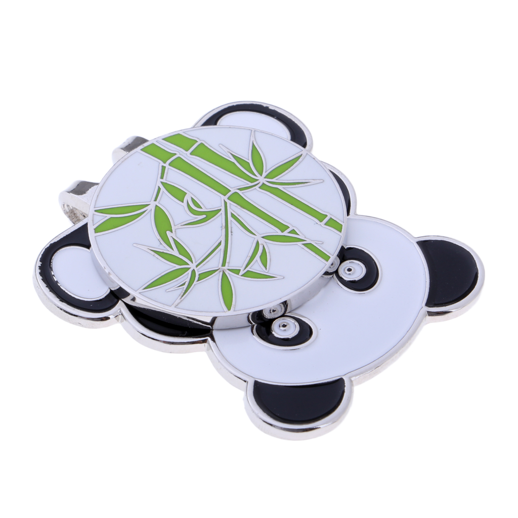 Alloy Golf Cute Panda Hat Cap Clip With Magnetic Detachable Ball Marker Golfer Gift Club Giveaways Prize Keepsake