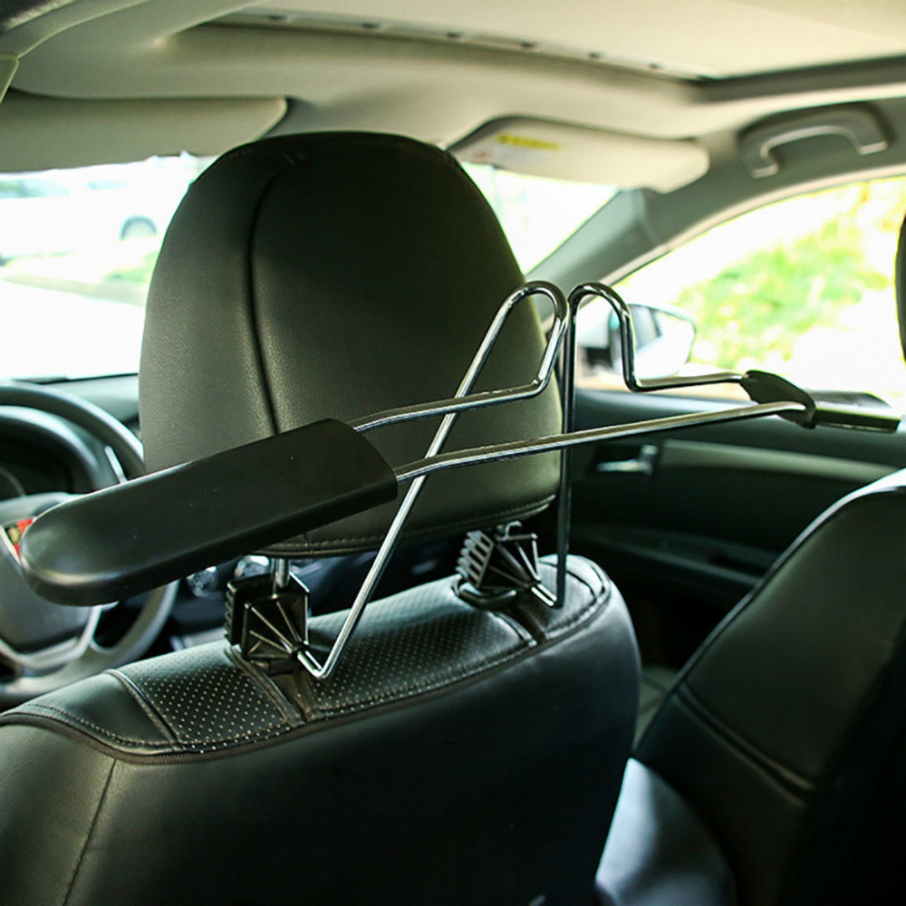 Stainless Steel Car Seat Headrest Coat Jackets Clothes Hanger Seat Back Clips Holder Hook Organizer