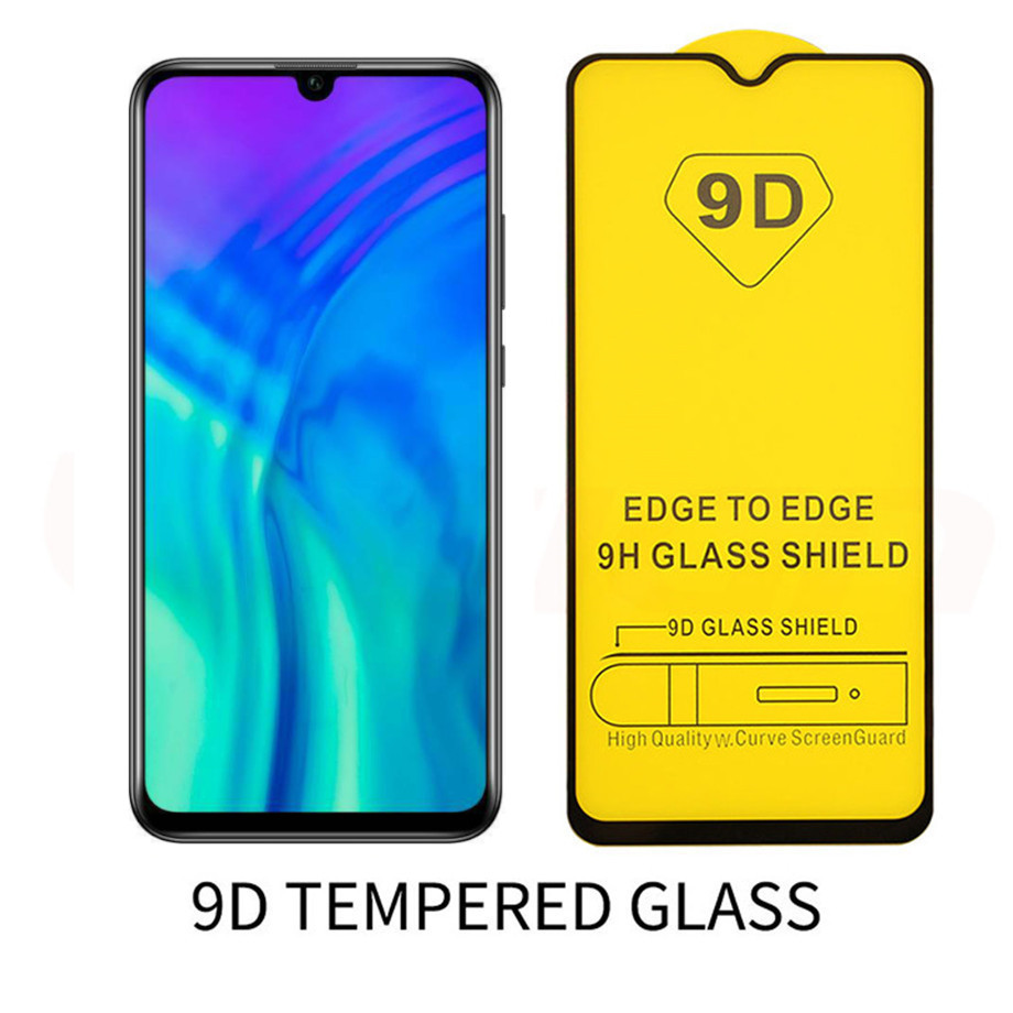9D Tempered Glass Film For Huawei Y6 Y9 2019 Y5 Y9 Y7 2019 Nova 3 3i P Smart Z 2019 Y6 2018 Full Cover Screen Protector Glass 9H in Phone Screen Protectors from Cellphones Telecommunications