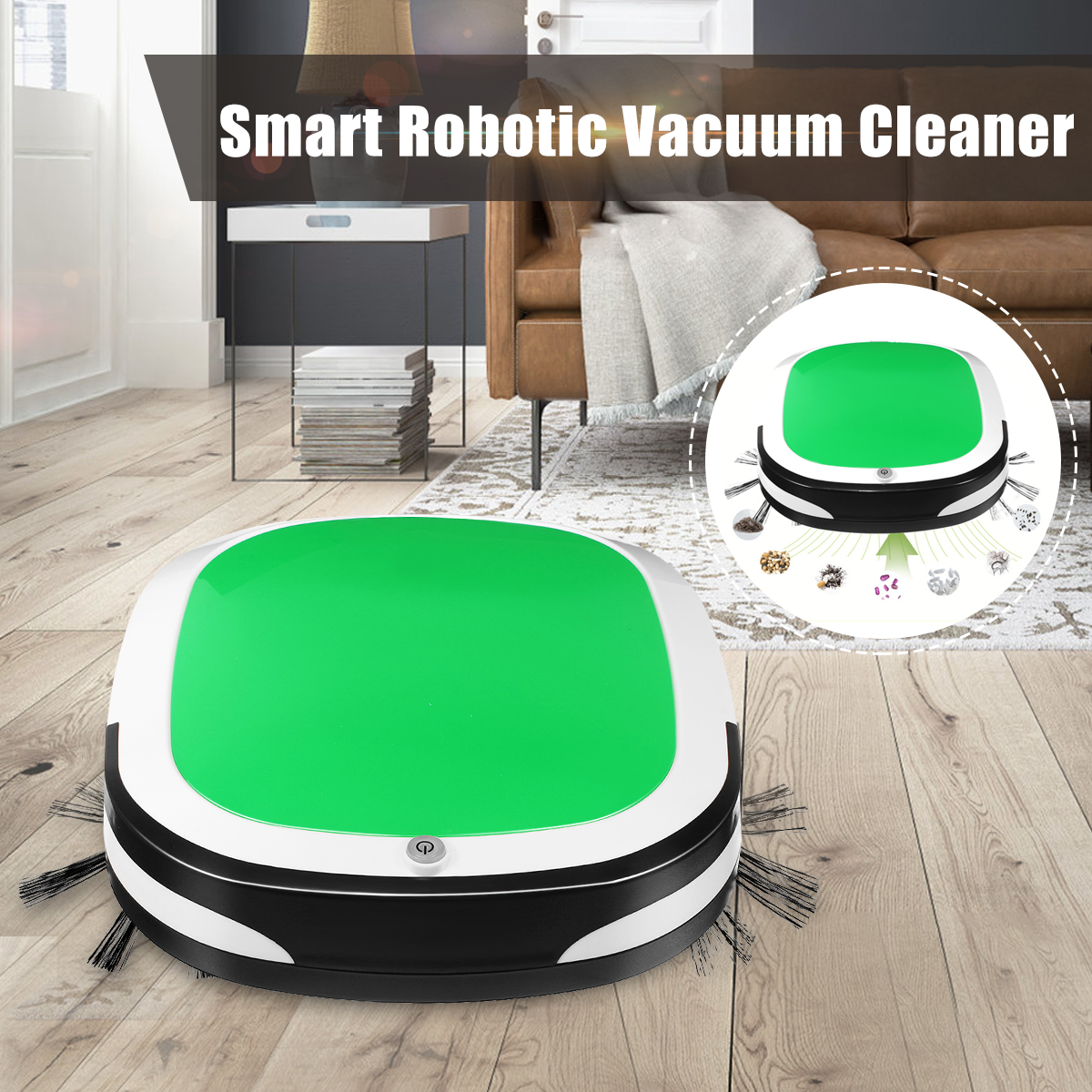 Electric Wireless Vacuum Sweep Robot Mini Smart Sweeping Robot Automatic Suction Machine Cleaner Dust Machine For Home Household Vacuum Cleaners    - title=
