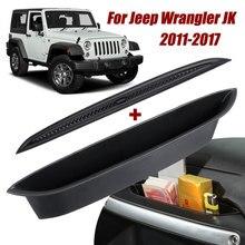 Auto Tür Organizer Griff Greifen Ablage Lagerung Box + Nicht slip Matte Für Jeep Wrangler JK Passagier 2011 2017