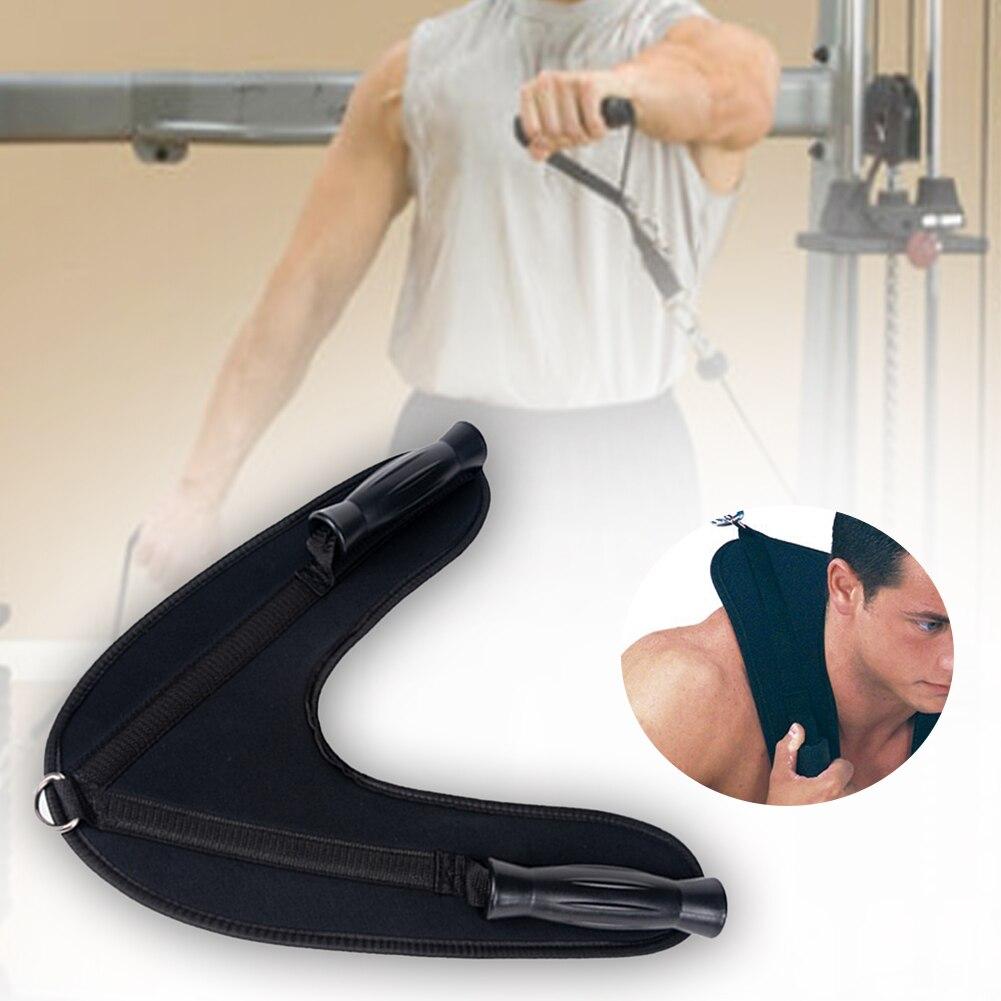 Fitness Abdominal Crunch Straps Ab Exercise Pulling Harness Shoulder Strap Belt