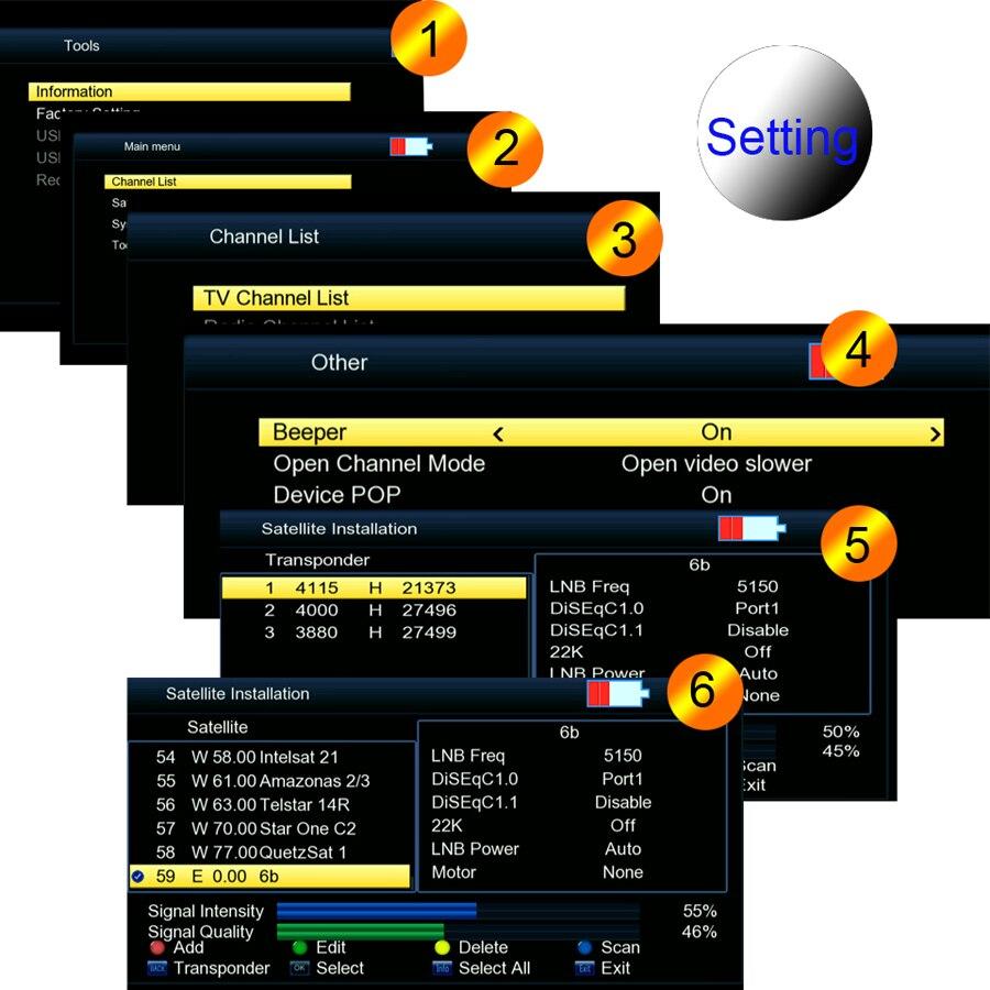 Image 4 - 3.5 inch LCD V8 Finder HD DVB S/S2 Digital Satellite Finder HD  H.264 MPEG 4 DVB S S2 Satellite Meter Full 1080P FTA SatfinderSatellite  TV Receiver