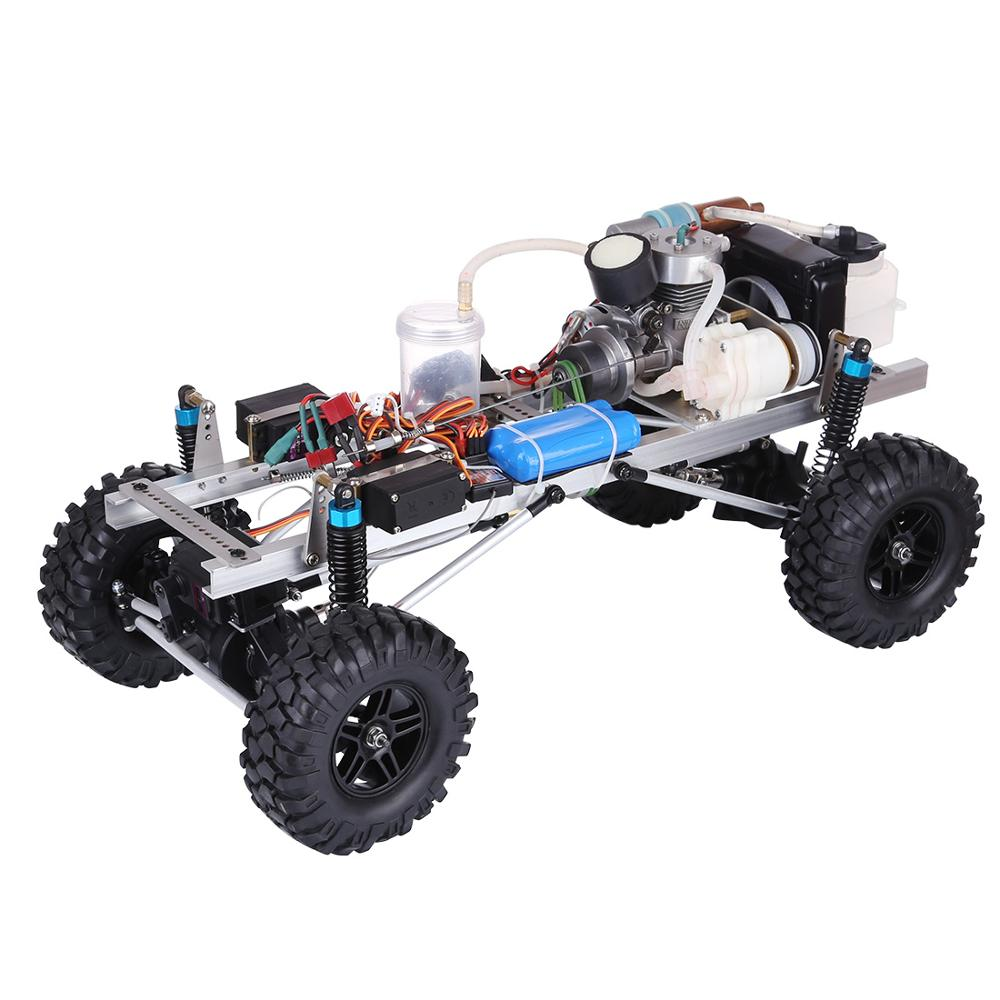 Уровень 15 метанол двигатель DIY 4WD электрический генератор с функцией обратного хода 2,4G RC внедорожный альпинистский автомобиль модель для му...