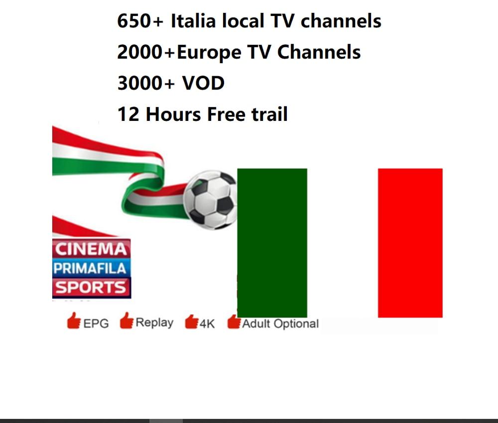 Italy IPTV Subscription IPTV M3U Italia DAZN Rai Premium Cinema Sport Calcio Primafila Italian Channels VOD Movies Italiano IPTV