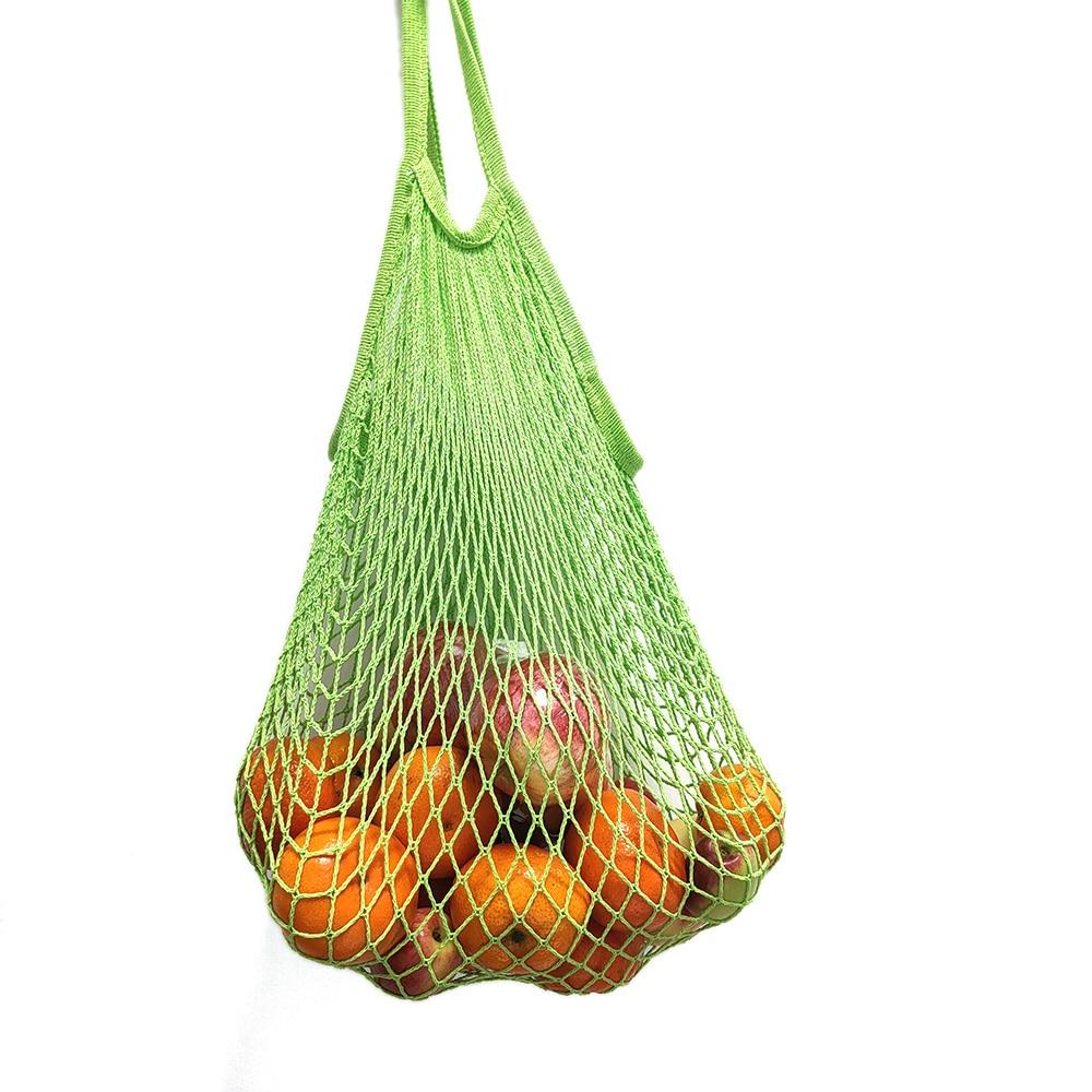 New Bags Fruit Shopping Storage Handbag Reusable Foldable Mesh Net Turtle Bag String Bag Fruit Storage Handbag folding shopping