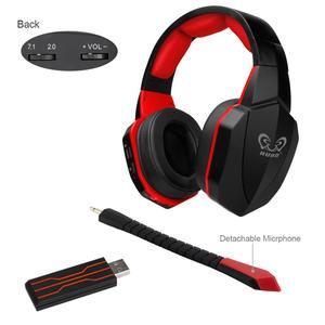 2.4g sem fio jogos headsets grandes fones de ouvido com microfone estéreo graves profundos para computador portátil gamer ps4 jogo usb plug