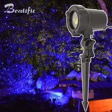 Projecteur lumineux statique à Laser simple, bleu, décor de noël, de nouvel an, pour maison, extérieur