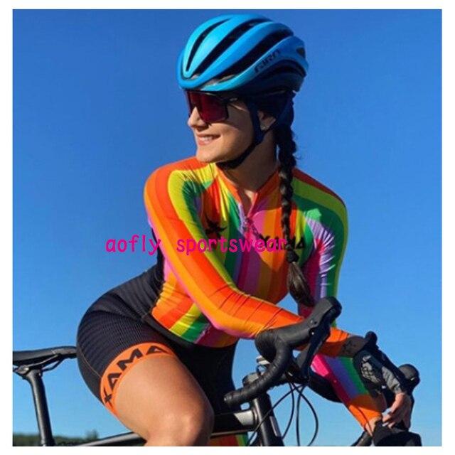 Longo triathlon manga curta camisa de ciclismo conjuntos skinsuit maillot ropa ciclismo bicicleta jérsei roupas ir macacão 4