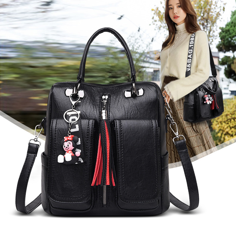 Occident fashion backpacks for school teenagers girls leather travel backpack women purses 2019 designer satchel