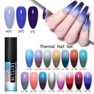 LILYCUTE Gel Nail-Polish Varnish Glitter-Gel Changing Holographics Temperature-Color