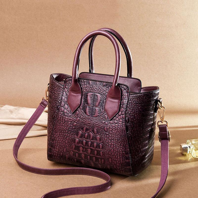 Fashion Crocodile Pattern Women Shoulder Bags Totes High Quality Handle Lady Handbags Retro Alligator Ladies Crossbody Bag 2019
