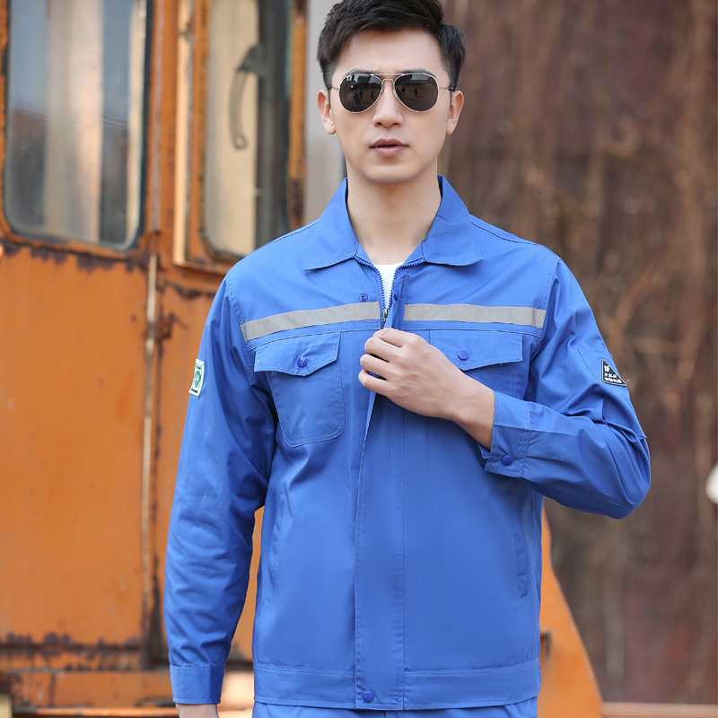 Summer Thin Section Long Sleeve Labor Suit Auto Repair Work Suit Men Mechanic Anti-static Clothes Pants Workwear