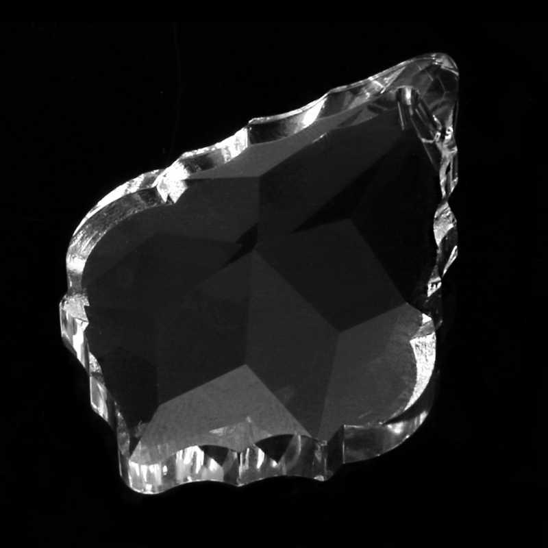 Czysty żyrandol szklane kryształy lampa pryzmaty części wiszące krople zawieszki 38mm