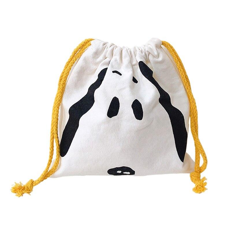 Купить с кэшбэком Cartoon With Simple Rogue Dog Canvas Bag Large Capacity Student Pen Bag Pencil Case Document Bag School Stationery