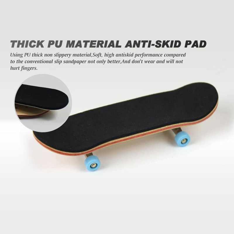 Kayu Fingerboard Kayu Profesional Dasar Fingerboard dengan Bantalan Roda Busa Tape Set Jari Skateboard